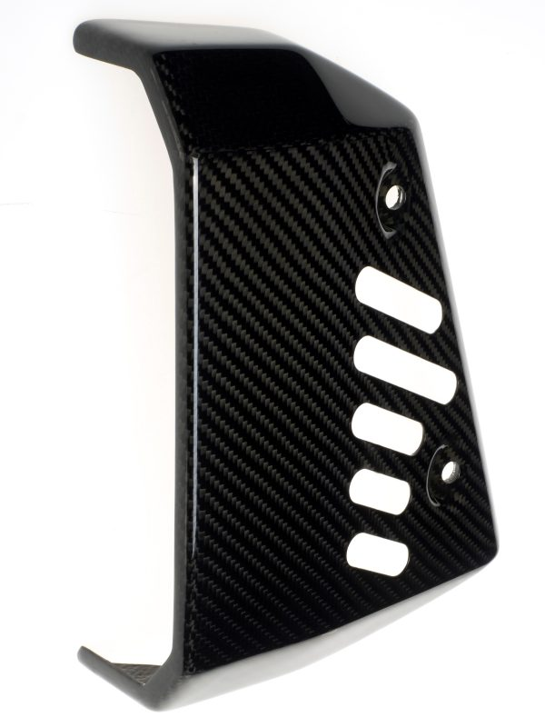 Custom made carbon fiber radiator cover for Ducati Scrambler