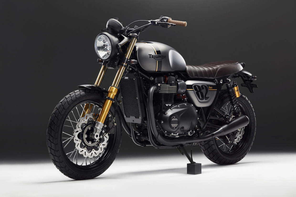 Triumph street twin front angled