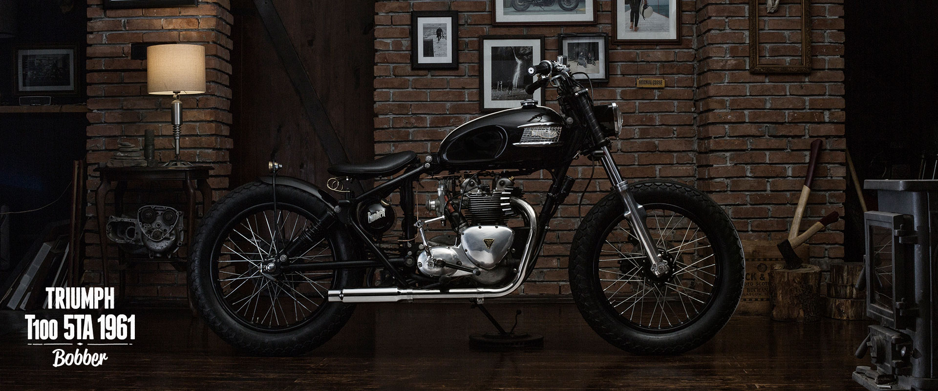 Triumph 1961 5ta t100 bobber Bunker Customs