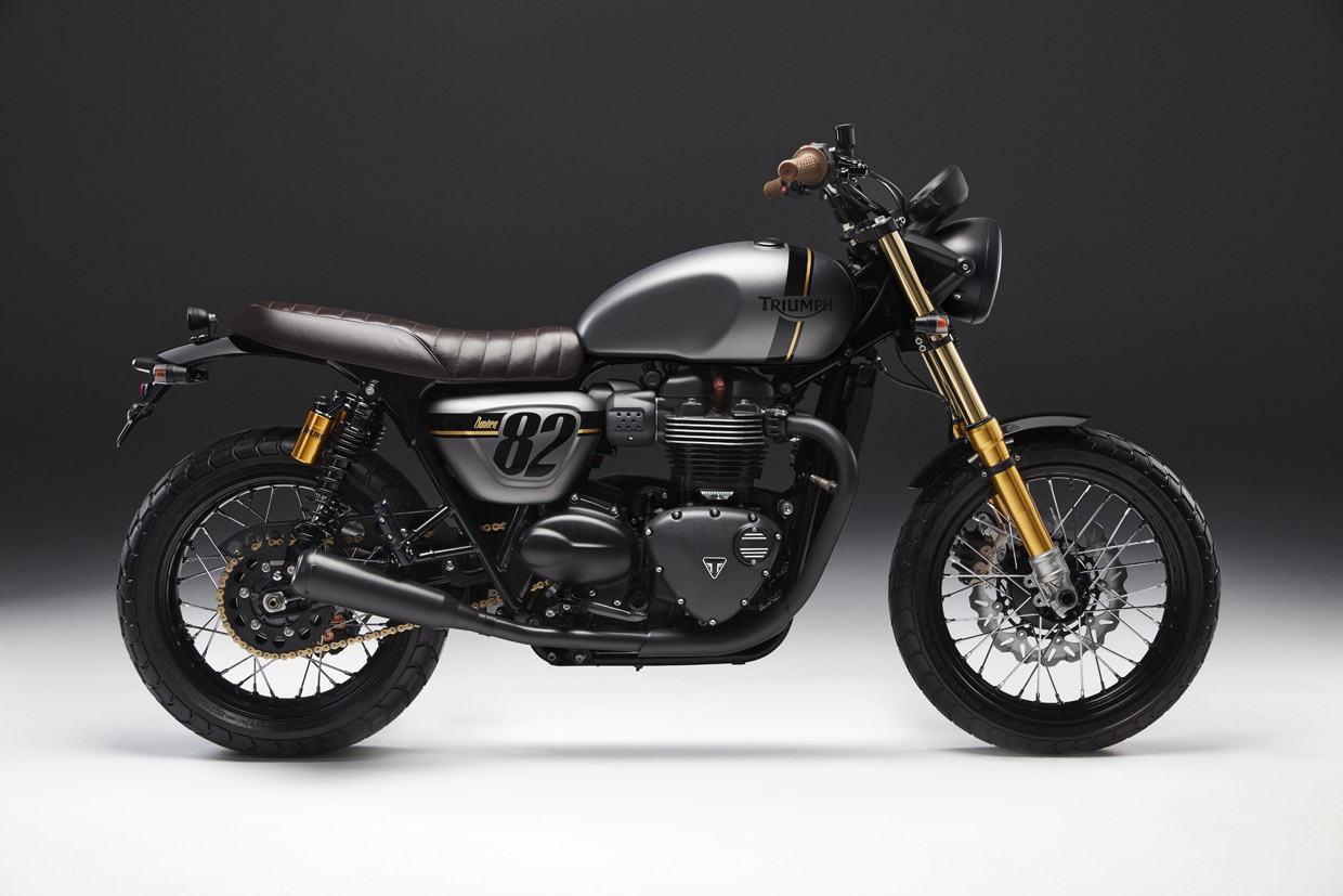 Triumph street twin Street Sleeper Left side