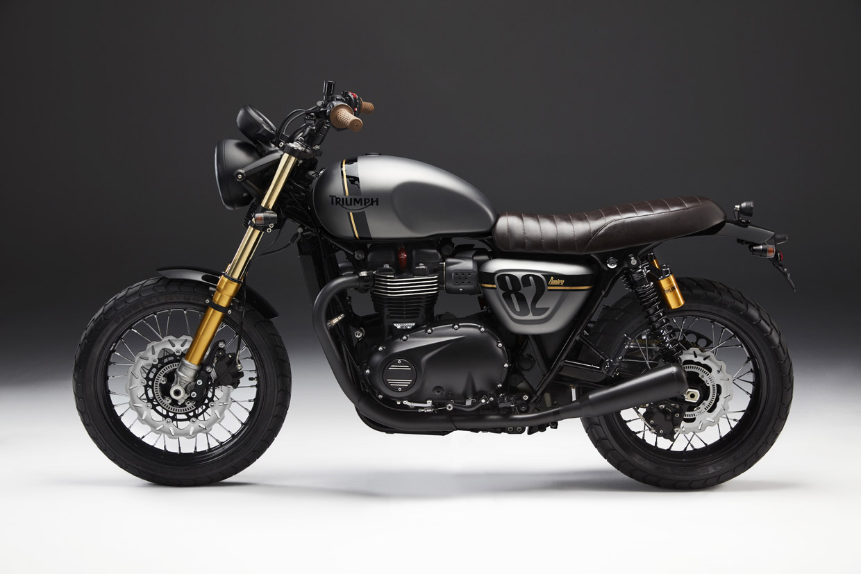 Triumph street twin Street Sleeper right side