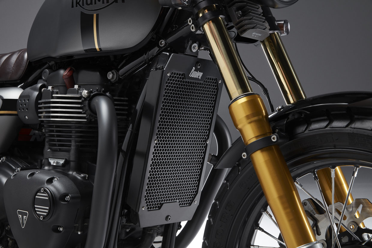 Triumph street twin Street Sleeper radiator Cover