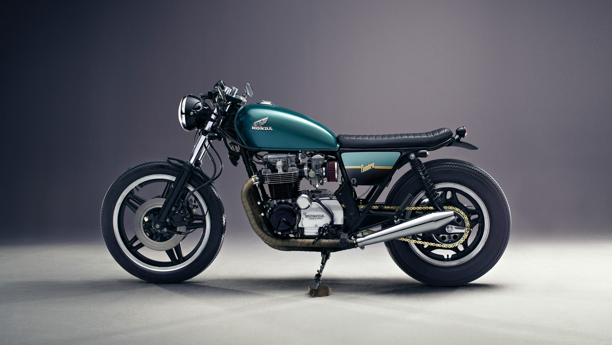 Honda CB 650 C Custom left side view by Bunker